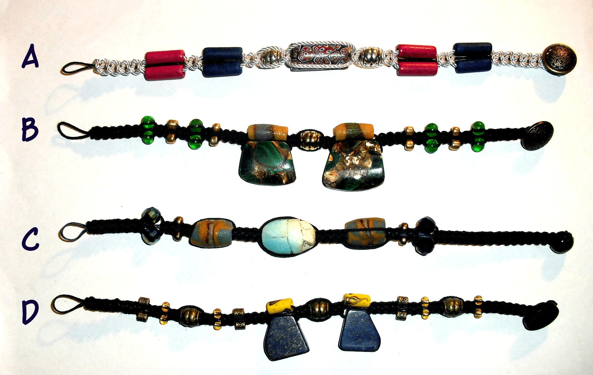 Macrame Bracelets Set 3