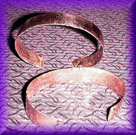 Copper Bracelet - narrow band