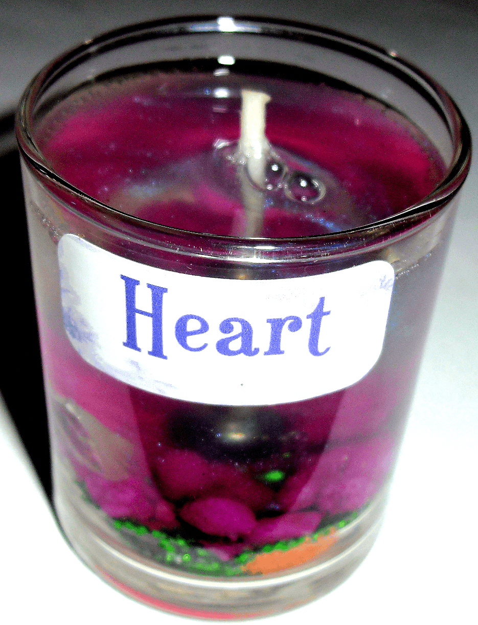 Heart Gel Candle