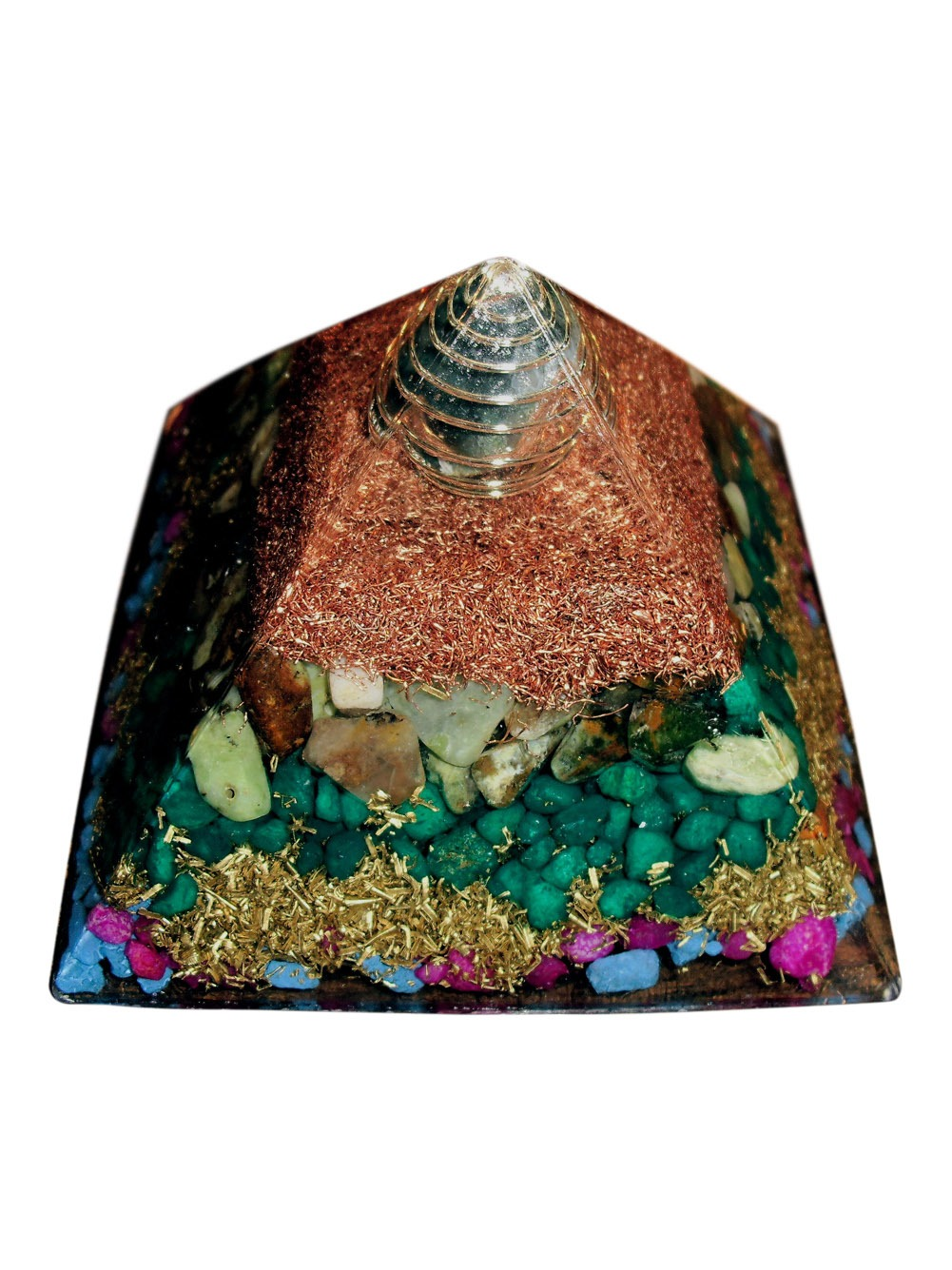 Globe Top Orgone Pyramid