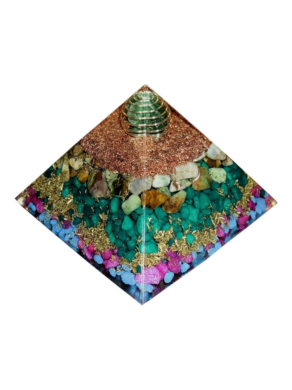 Globe Top Orgone Pyramid