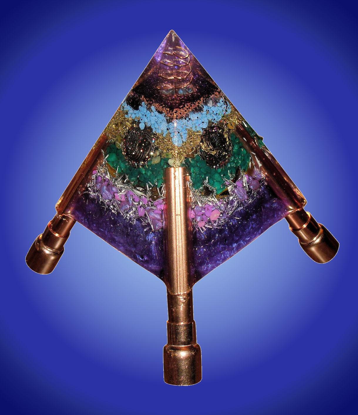 Adjustable Orgone Pyramid Purple