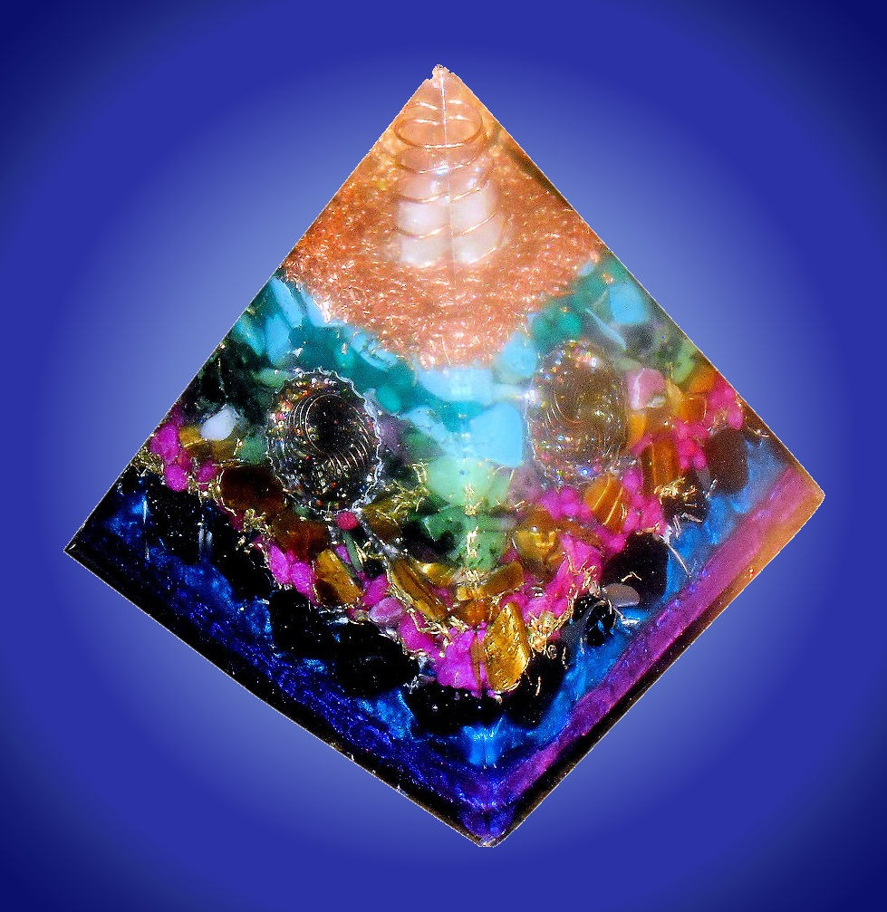 Blue Mega Orgone Pyramid