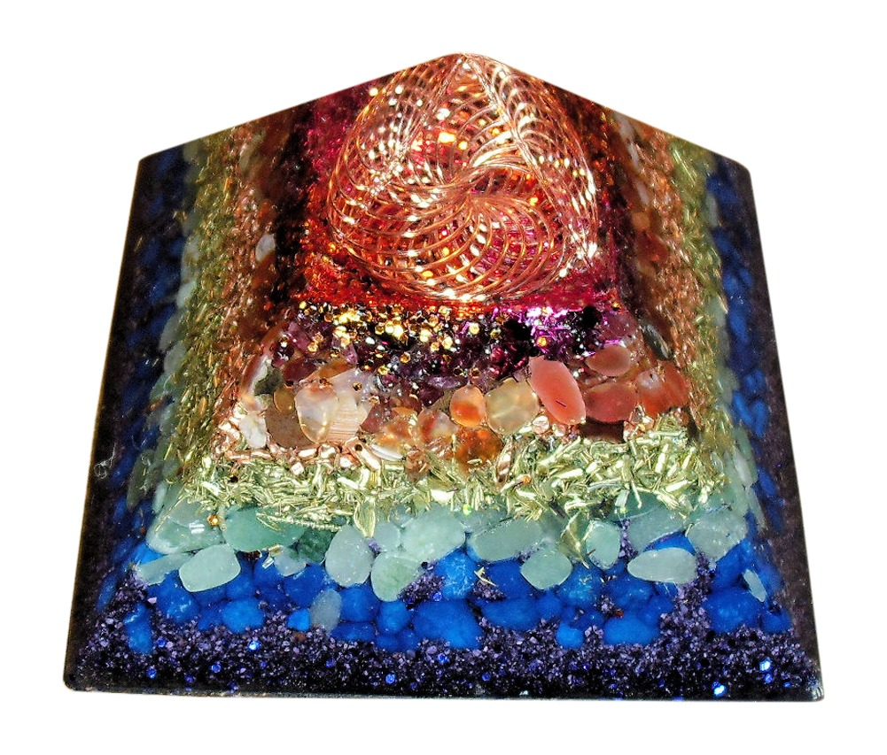 Rainbow Vortex Orgone Pyramid