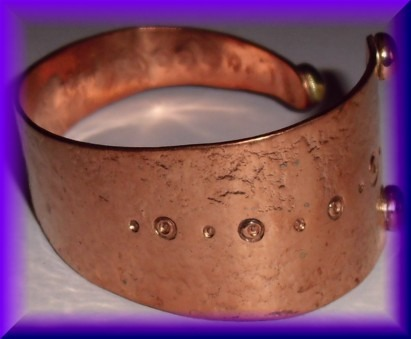 Copper Bracelet - triangular