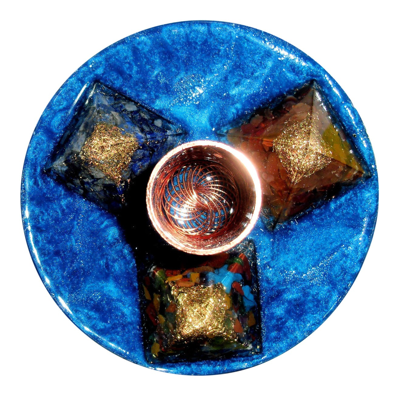 Three Pyramid Orgone Turbo Energy System for Robust EMF Protection