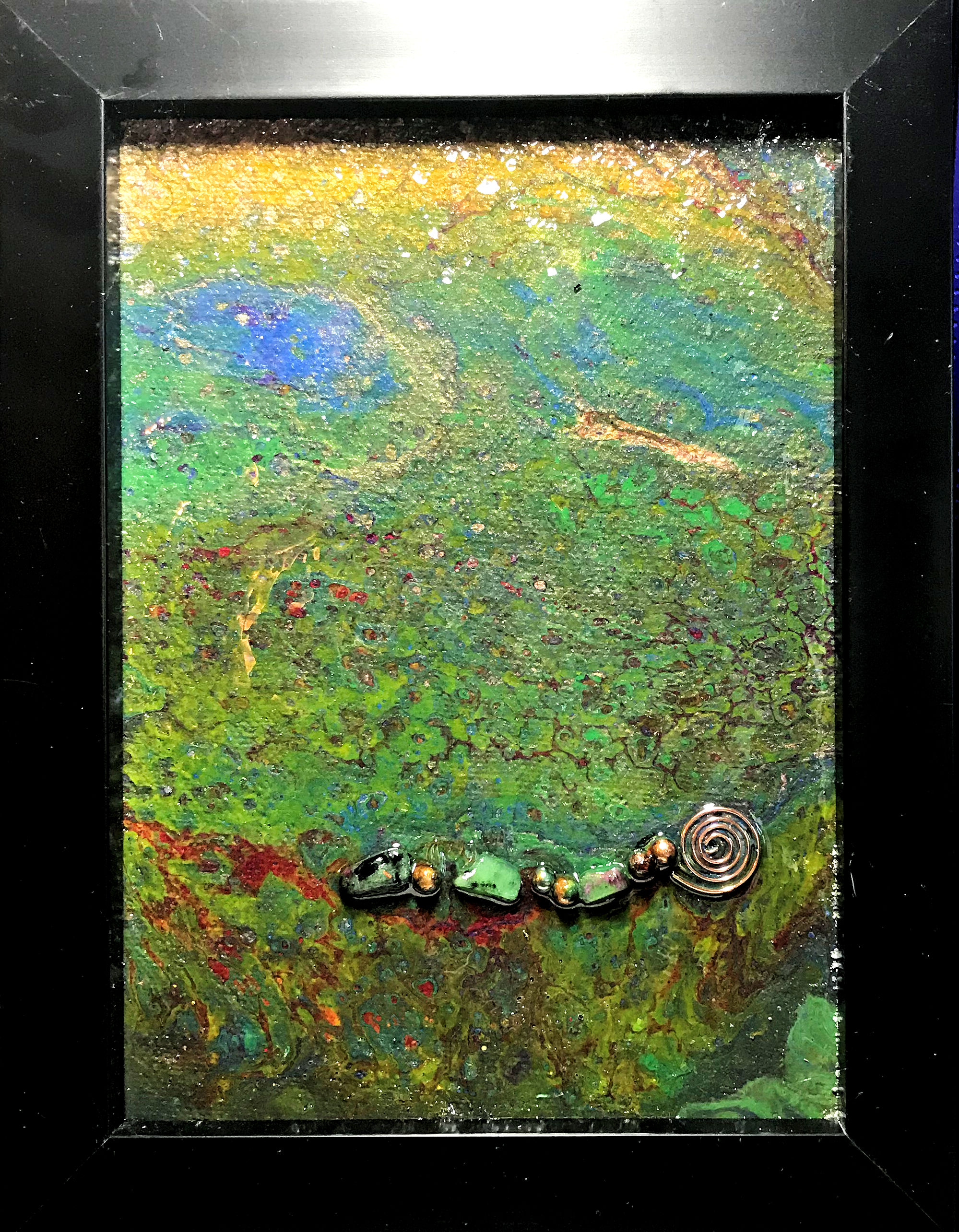 """""""Dots and Dashes"""" Orgone Fluid Art"""