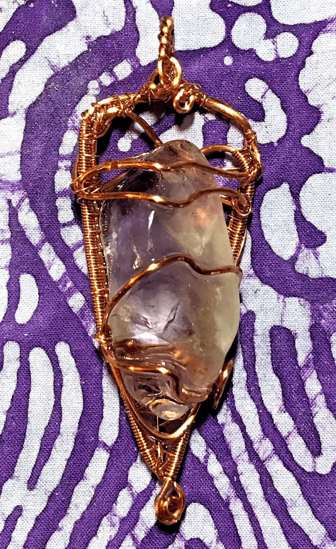 Perpetual Shine Amethyst Orgone Pendant – EMF protection