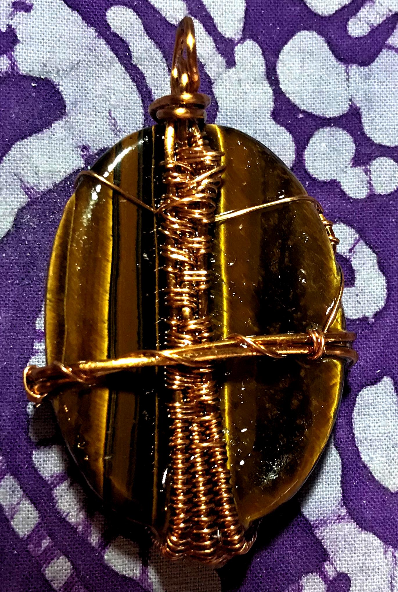 Perpetual Shine Tiger Eye Orgone Pendant – EMF protection