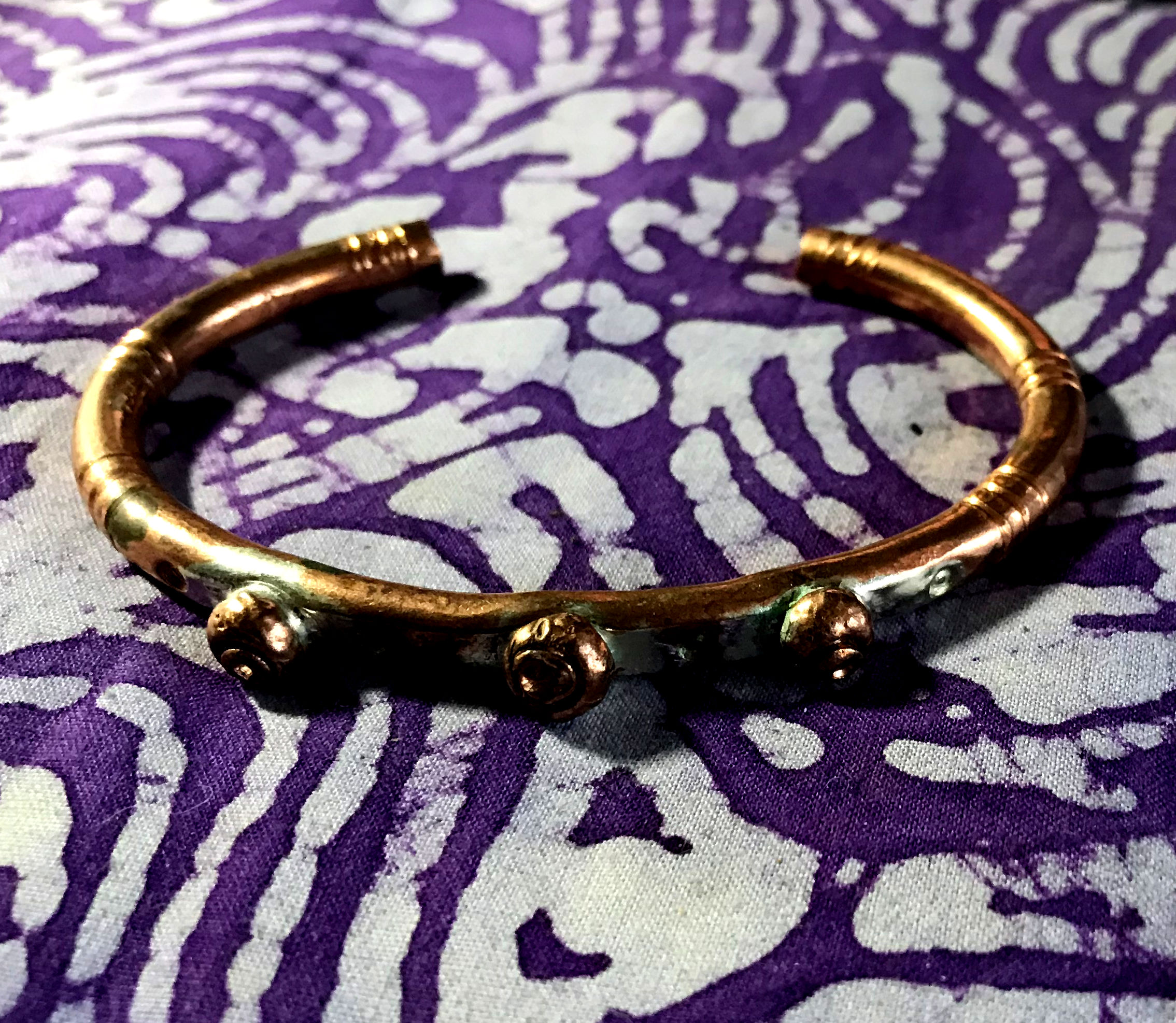 Triple Shot Copper Bracelet