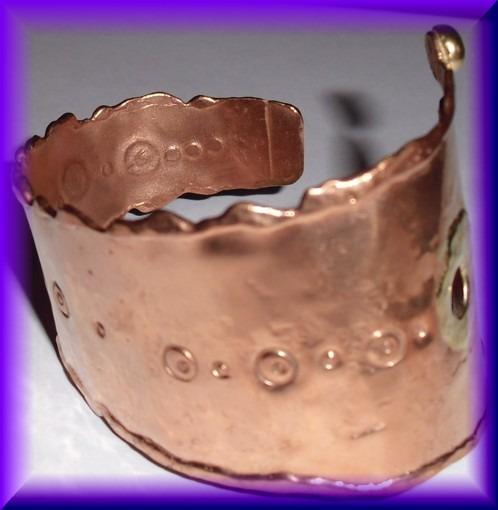 Decorative Copper Triangular Band Bracelet
