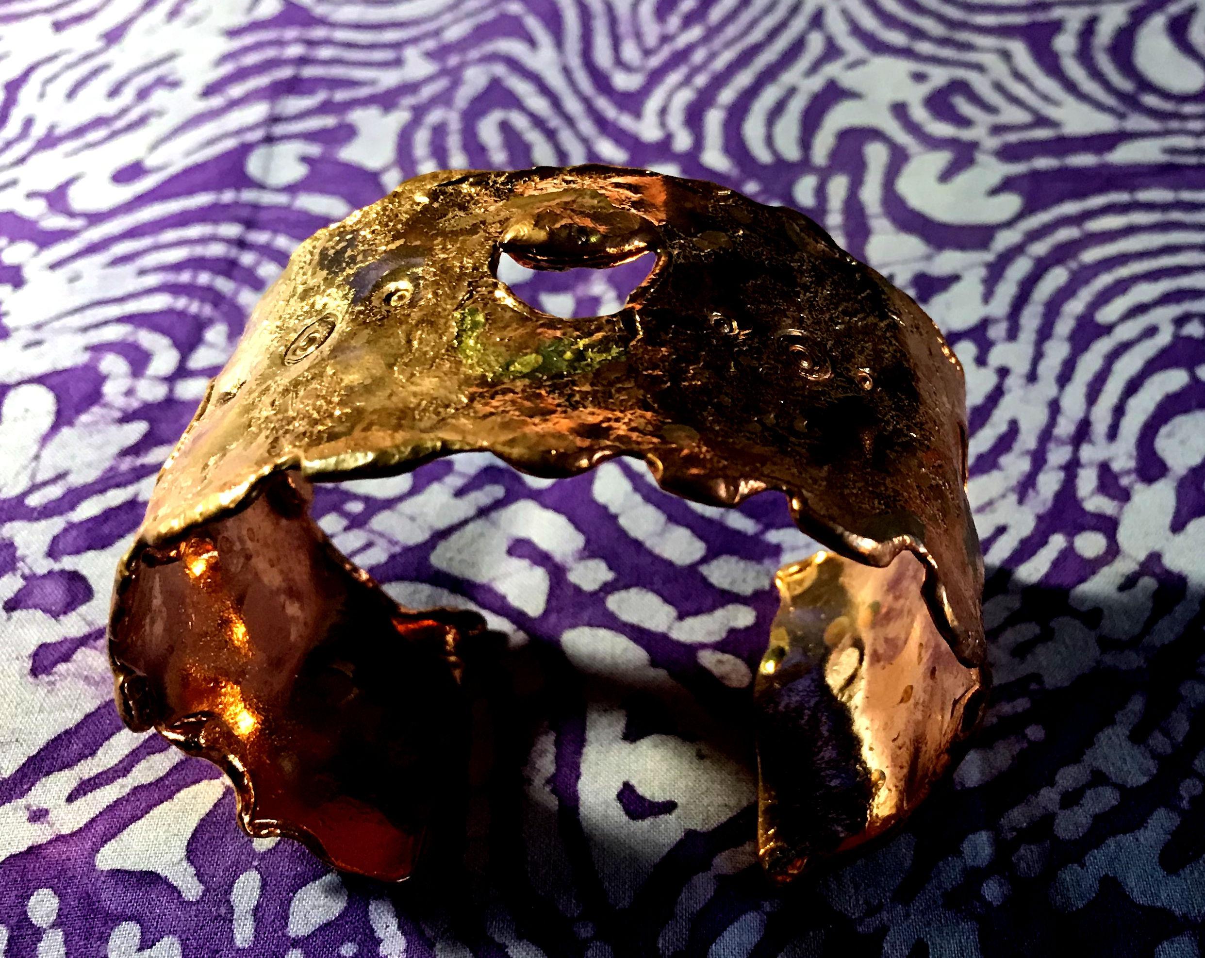 Decorative Copper Wide Band Bracelet