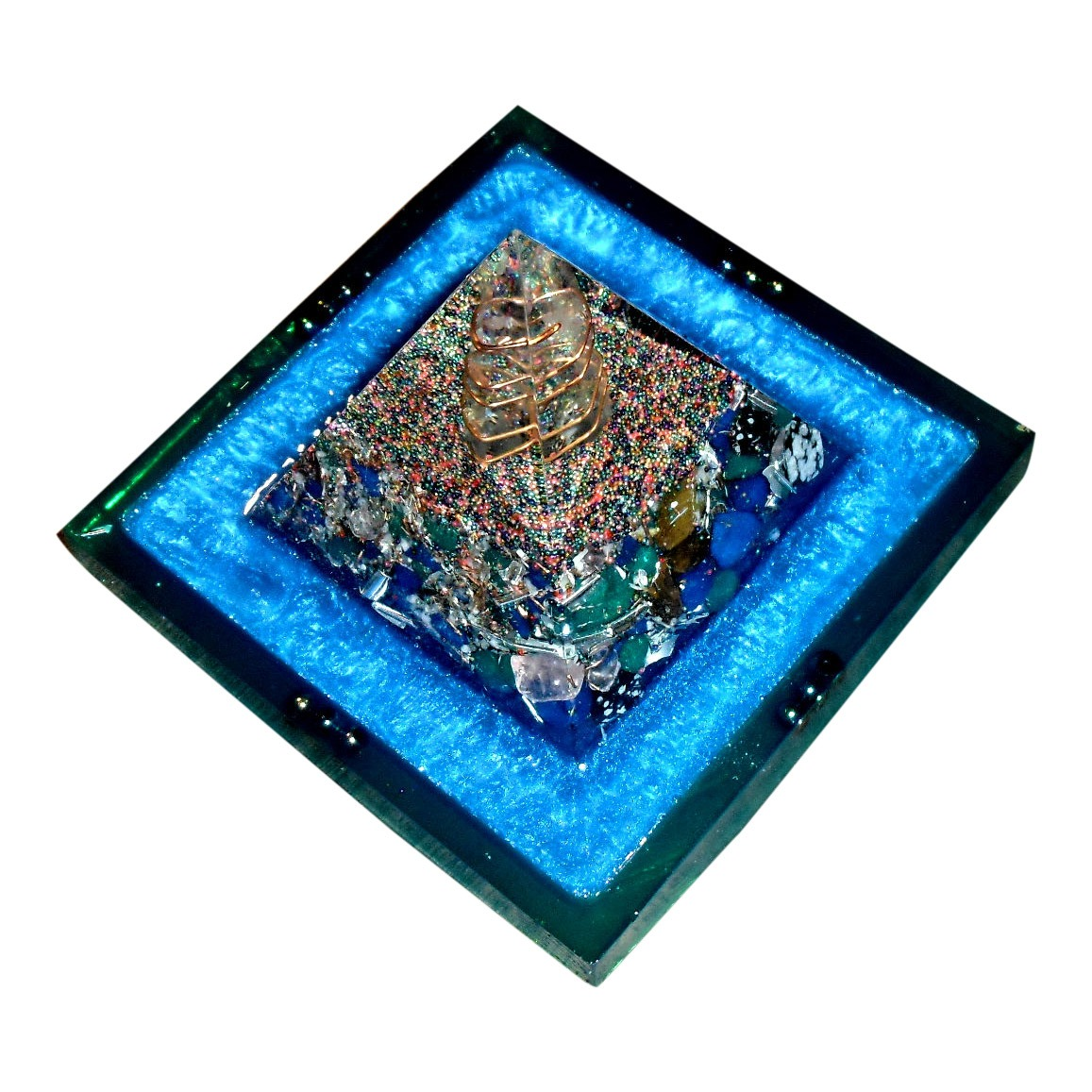 Higher Frequency Orgone Pyramid – with Lemurian Quartz Crystal Activation
